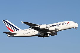World's largest passenger airplane Airbus A380 built by European corporation Airbus SE. Airbus is one of the world's leading aircraft manufacturers