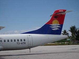 Bonriki International Airport - Air Kiribati's former ATR 72 aircraft at Bonriki International Airport