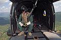 Aircrewman in RAF Puma Helicopter Over Kenya During Ex Askari Thunder MOD 45153495.jpg