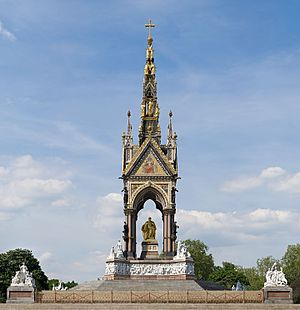 Frieze of Parnassus - The frieze in its context; the Albert Memorial as seen from the south side