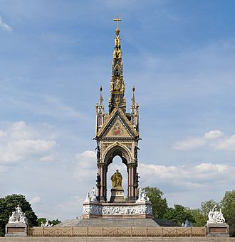 Albert Memorial - The Albert Memorial from the south side