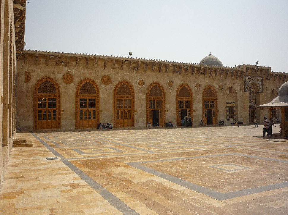 Aleppo Great mosque courtyard