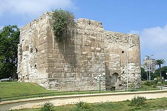 Siege of Alexandria (641) - Western tower, remains of the Hellenistic city wall fortifications.