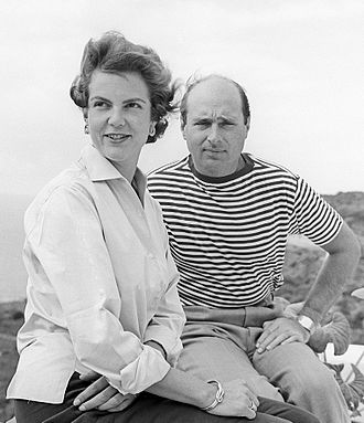 Princess Maria Pia of Bourbon-Parma - With her first husband Alexander of Yugoslavia in 1958