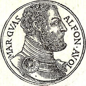 Alfonso d'Avalos - From Guillaume Rouillé's Promptuarii Iconum Insigniorum
