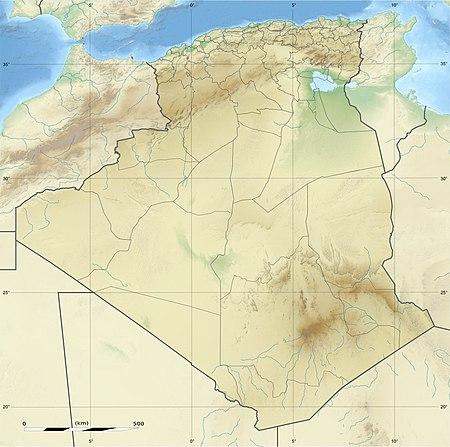 مدينة الجزائر على خريطة الجزائر