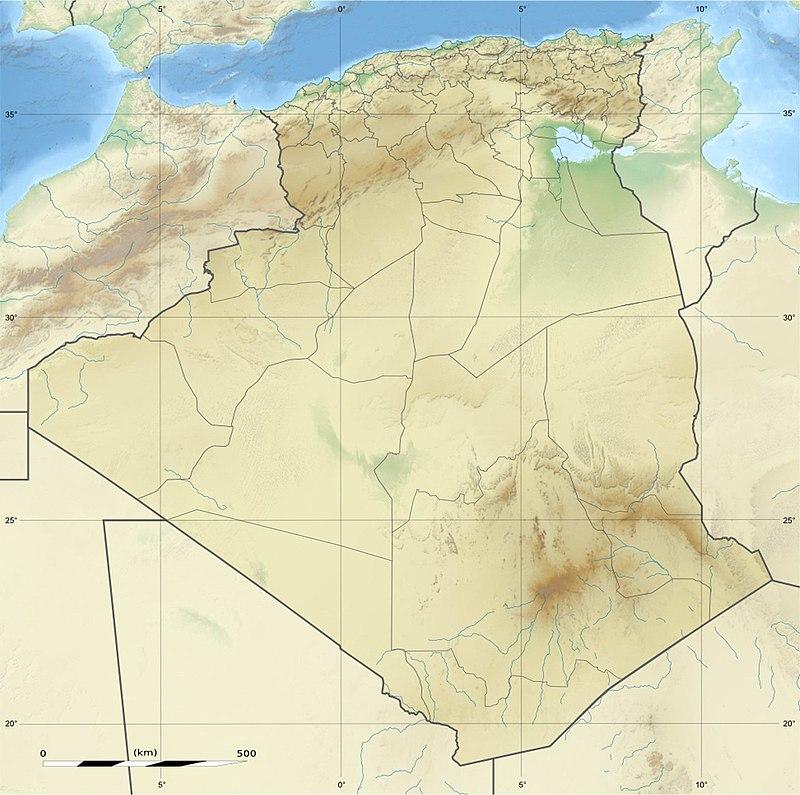 Ahaggar ubicada en Argelia