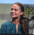 Vikander at the 2015 San Diego Comic-Con International.