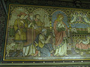 All Saints, Margaret Street - Image: All Saints Church, Margaret Street, W1 tiled panel (3b) geograph.org.uk 1529169