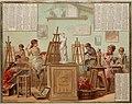 Almanach des Postes et des Télégraphes, registre 1887 - Cours de peinture (12305885136).jpg