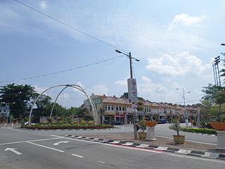 Alor Gajah Town in Malacca, Malaysia