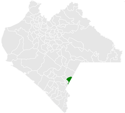 Municipality of Amatenango de la Frontera in Chiapas