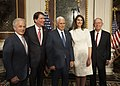 Ambassador Hagerty, Vice President Pence, Mrs. Hagerty, and U.S. Senators Corker and Alexander Pose for a Photo at the Ambassador's Swearing-in Ceremony in Washington (36055778882).jpg