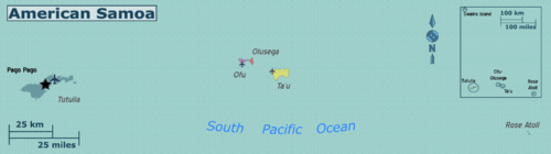 american samoa regions color coded map