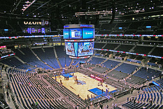 Amway Center - Amway Center in its basketball-venue arrangement after hosting its first NBA regular season game