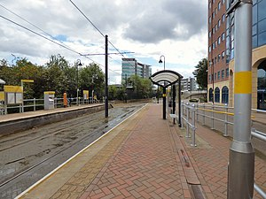 Anchorage tram stop - Image: Anchorage tram stop (geograph 5504154)