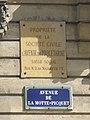 Ancienne plaque d'assurance, avenue de La Motte-Picquet.jpg