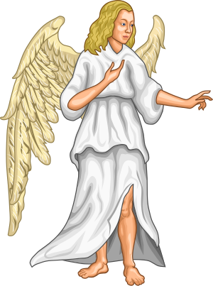 Angelic Supporter used in Heraldry
