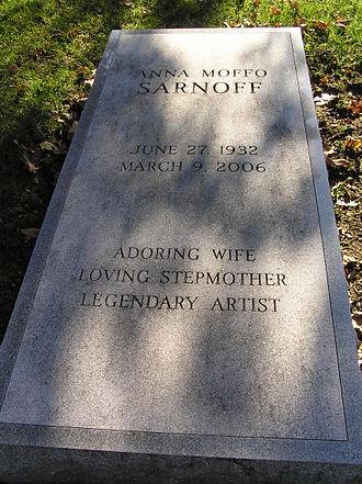 Anna Moffo - Grave of Anna Moffo Sarnoff in Kensico Cemetery
