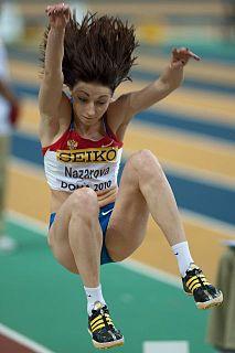 Anna Nazarova Russian long jumper