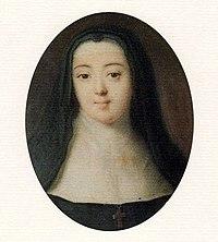 Η ερωμένη του Μαρκήσιου και αδερφή της συζύγου του, Anne-Prospère, σε μεταγενέστερη προσωπογραφία ως μοναχή