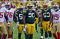 Anthony Davis, B.J. Raji, Nick Perry and Michael Crabtree - San Francisco vs Green Bay 2012.jpg