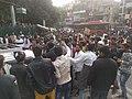 Anti-CAB protestors stopping traffic.jpg