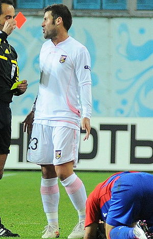Antonio Nocerino - Nocerino receiving a red card in a Europa League match against CSKA Moscow