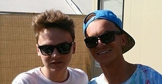 "Anttix - Anttix backstage with Conor Maynard at ""One In The Park"" 2013"
