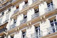 Apartment building facades close up view, Marseille, Provence-Alpes-Côte d'Azur, Southeastern France , Western Europe-2
