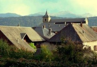 Arbin, Savoie - The church and surrounding buildings in Arbin