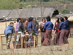 Archery in Bhutan - Archery cheerleading