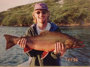 Tree River - Arctic Char caught on Tree River in July 1996 by John MacKay