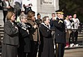 Arlington Ladies place a wreath at the Tomb of the Unknown Soldier (31005695145).jpg