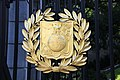 Arlington National Cemetery - US Navy shield on Schley Gate 2 - 2011.jpg
