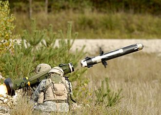 Tandem-charge - The self-guided FGM-148 Javelin missile has a tandem-charge warhead