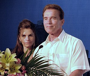 Maria Shriver - Shriver with her husband Arnold Schwarzenegger at the 2007 Special Olympics in Shanghai, China