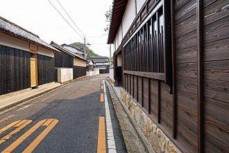 Charring - Traditional houses in Naoshima, Kagawa clad with yakisugi panels