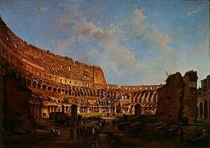 Luigi Querena - Processione all'interno del Colosseo, 1870 (Art collections of Fondazione Cariplo)