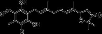 Ascofuranone - Image: Ascofuranone structure