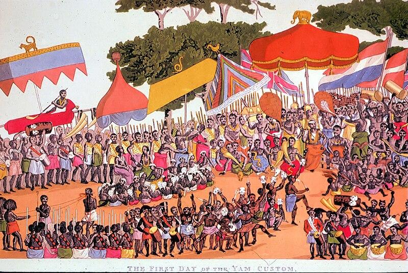 Arquivo: Ashanti Yam Ceremony 1817.jpg