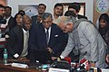 Ashok Gajapathi Raju Pusapati inaugurating the Implementation of 'e-office' in the Ministry of Civil Aviation and 'e-Clearance (Communication Mast)' - Single Window Clearance to Communication Masts through SACFA – NOCAS.jpg