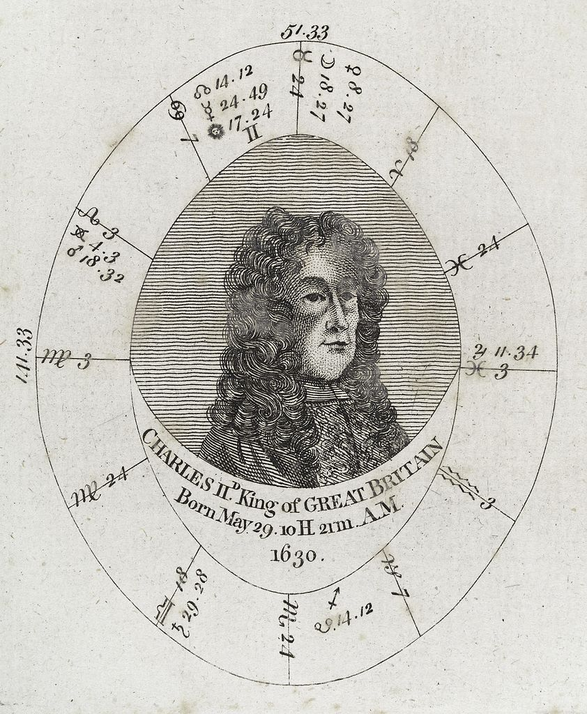 Natal Charts: Astrological birth chart; Charles II King of Great Britain ,Chart