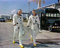Astronauts Neil A. Armstrong (left), command pilot, and David R. Scott, pilot, the Gemini-8 prime crew.jpg