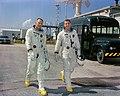 Astronauts Neil A. Armstrong (left), command pilot, and David R. Scott, pilot, the Gemini-8 prime crew.jpg