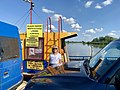 At the cable ferry between Borusowa and Nowy Korczyn, Poland, 2019.jpg