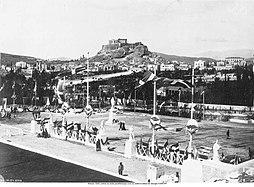 Athens 1896-Entrance of the Pan-Athenian stadium