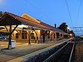 Attleboro station in twilight, June 2013.JPG