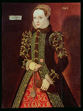 Elizabeth FitzGerald, Countess of Lincoln - Portrait of Lady Elizabeth FitzGerald painted by Steven van der Meulen in 1560
