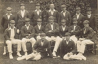 Charlie Macartney - The successful 1921 Australian team. Macartney is third from the right in the middle row